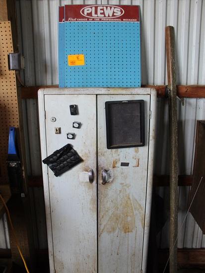Plews Pegboard, Metal Cabinet