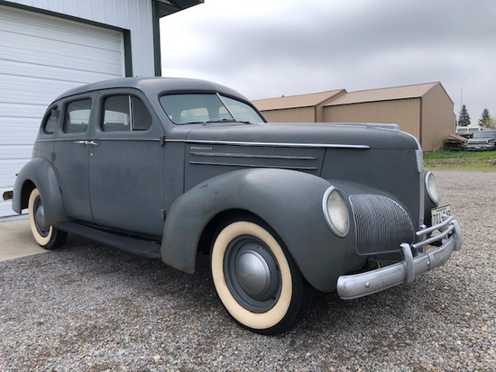 **1938 STUDEBAKER, 4 DOOR, ORIGINAL INTERIOR, ALL