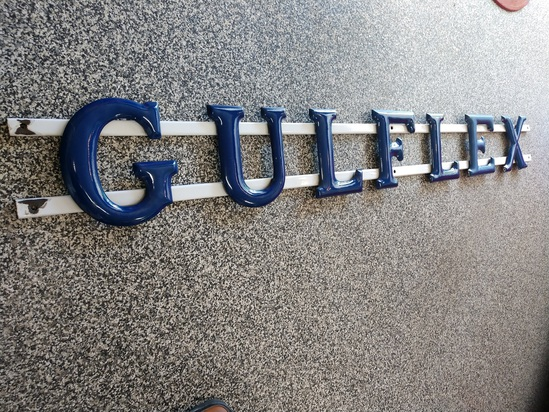 "7' GULFEX 10"" TALL PORCELAIN LETTER WITH PORCELAIN"