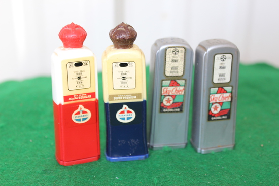 (4) Gas stamps, (2) Sinclair, (2) Standard