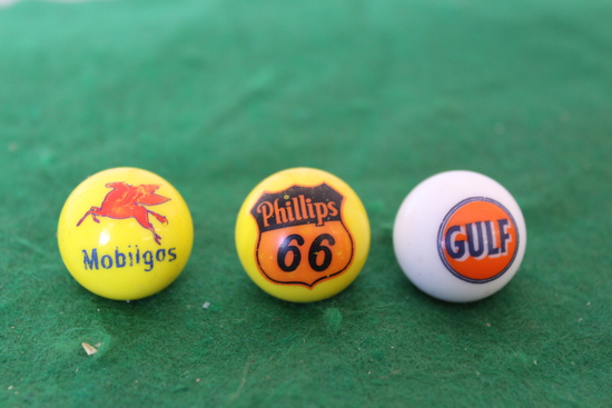 (3) Marbles, Mobil, Gulf, and Phillips 66