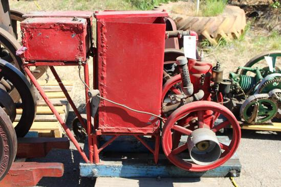 Cushman Vertical Gas Engine with Shopbuilt Cooling and Fuel Tanks