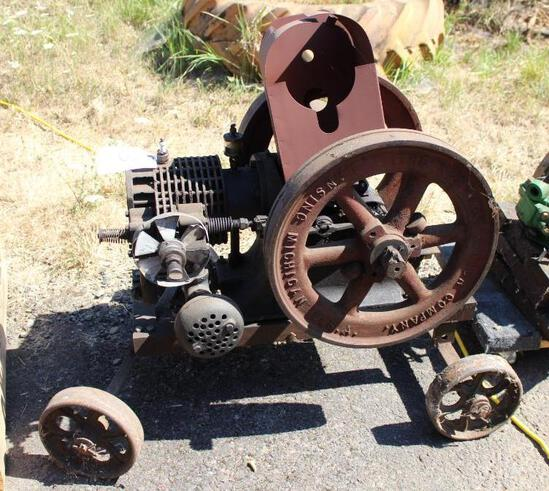 New-Way Motor Co. 3HP Horizontal Gas Engine, Air Cooled