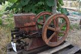 Economy 1.5HP Gas Engine, Stuck, Appears Complete, Needs Restoration,