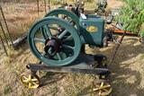 Root & Van Dervoort 4HP Gas Engine, Restored on Steel Wheel Cart,