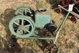 Sandwich Mfg. 1.5HP Gas Engine, Complete, On Original Steel Wheel Cart