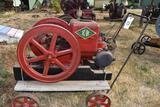 Emerson Brantingham Type H 1.5HP Gas Engine, Restored, Complete, On Steel Wheel Truck
