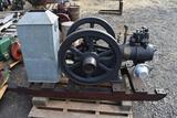 Falk 3HP Side Shaft Gas Engine, Restored, Appears Complete, On Original Skids