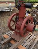 Early Stover Vertical 4HP Gas Engine, Appears to be Complete