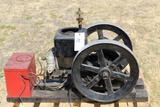 Brownwall Gas Engine, Complete and Restored, With Battery Box, Head and Block Are One Piece