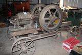 Gade 6HP Original Unrestored Gas Engine on Steel Wheeled Truck,