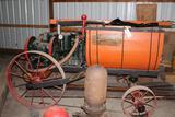 Fairbanks Morse 3HP Style C Gas Engine Built on Hardie Spray Rig on Horse Drawn Steel Wheel Wagon
