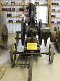 1902 Fairbanks Morse 12HP Type T Vertical Gas Engine, Fully Restored on Steel Wheeled Truck