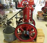 International Famous 2HP Vertical Gas Engine, Complete and Fully Restored