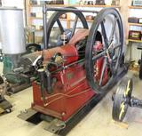 Victor Horizontal Mfg'ed by International Harvester 12HP Gas Engine, Complete and Fully Restored