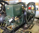 Stover 12HP Gas Engine, Hopper Cooled, On Steel Wheel Truck, Complete and Fully Restored