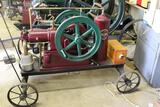 Olds 2.5HP Gas Engine, Complete and Fully Restored, Size 4x6 On Steel Wheel Truck