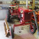 McCormick Farmall Cub Tractor, Restored, Wheel Weights, Fenders, 8x24 Tires,