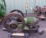 Ideal Farm Stationary Gas Engine, Spark Plug, Restored and Complete