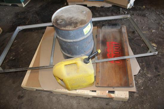 5 GALLON DIESEL CAN, STEEL BARREL, AND MORE