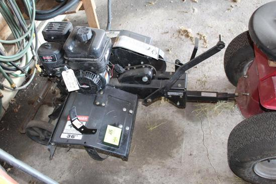 """AGRI-FAB 36"""" PULL TYPE TILLER W/BRIGGS AND STRATTON 9.5 HP ENGINE (ENGINE NEW IN DECEMBER 2018)"""