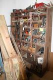 WOOD ASSORTED PARTS BIN WITH CONTENTS