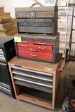 ROLLING TOOL BOX, (2) TOP TOOL BOXES