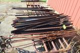 APPROX 50 T-POSTS, 10 TURNBUCKLES