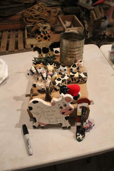 Metal flour sifter, salt and pepper shakers, wind chime and more