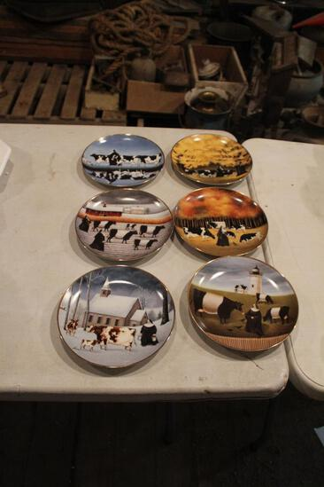(6) Franklin Mint Heirloom Recommendation plates, all different numbers