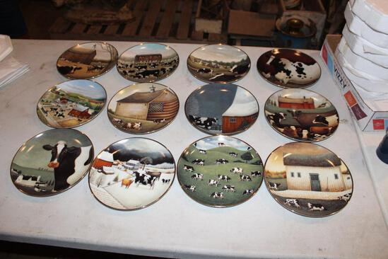 (12) Franklin Mint American Folk Art Collection plates, all different numbers