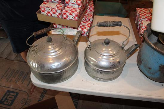 (2) Teapots