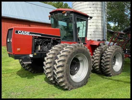 1987 CaseIH 9110 4WD Tractor, 18.4R38 Duals on Bar Axles, 3Pt, Quick Hitch, 12 Speed PS, 2 SCV,