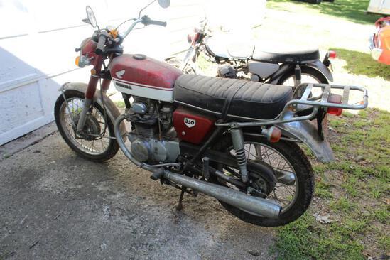 ***1970 Honda 350, 18380 Miles Showing, VIN- CB350-2020368, CB350E2028549