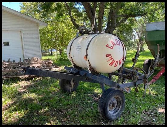 Anhydrous Applicator, (7) Shank, Approx 150 Gal Tank
