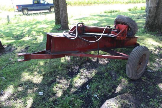 Hyd Wood Splitter, on 2 Wheel Cart