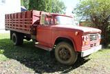 ***1965 Dodge 500 Grain Truck, Single Axle, 8.25-20 Tires, 15' Wood Box with Hoist, 41324 Miles