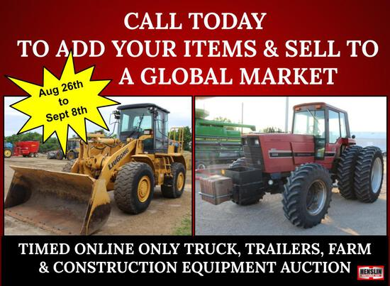 ABSOLUTE NO MINIMUMS NO RESERVES EQUIPMENT AUCTION