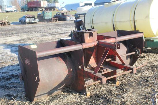8' LUNDELL SNOW THROWER, 3PT, FOR PARTS