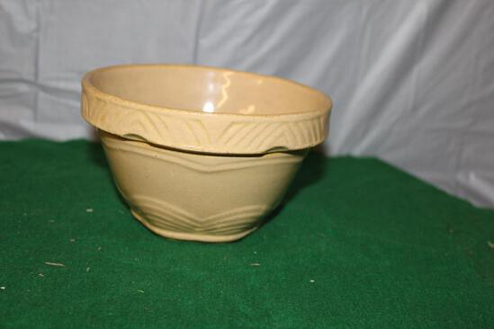 "APPROX. 6"" CROCK MIXING BOWL, USA MARKED ON BOTTOM"