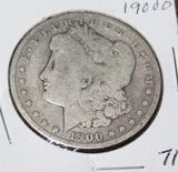 1900 O MORGAN SILVER DOLLAR, EXTRA FINE