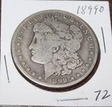 1899 O MORGAN SILVER DOLLAR, EXTRA FINE