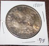 1881 O MORGAN SILVER DOLLAR, EXTRA FINE