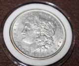 1880 MORGAN SILVER DOLLAR, UNCIRCULATED