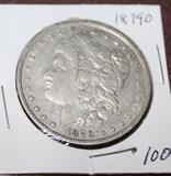 1879 O MORGAN SILVER DOLLAR, EXTRA FINE
