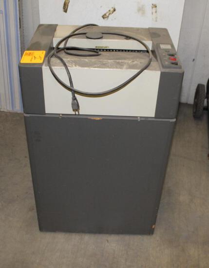 ELECTRIC WASTE BASKET DESTROYIT 4001 PAPER SHREDDER (NEEDS WORK)