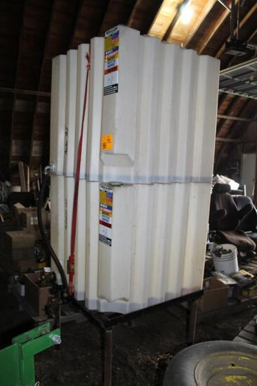 (2) TOTE-A--LUBE 110 GALLON POLY TANKS ON STAND