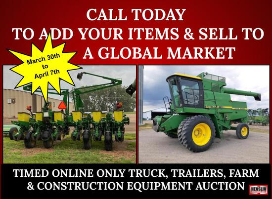 SPRING 2021 EQUIPMENT CONSIGNMENT AUCTION