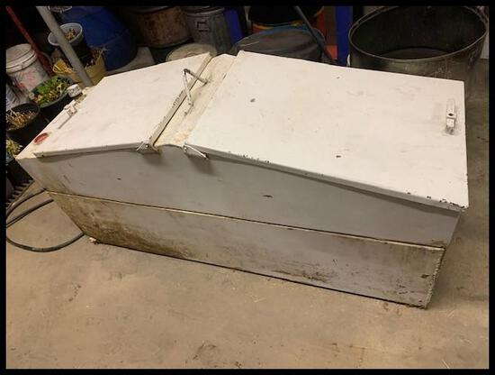 Rectangle Fuel Tank, with Top Tool Box, used for diesel, no pump