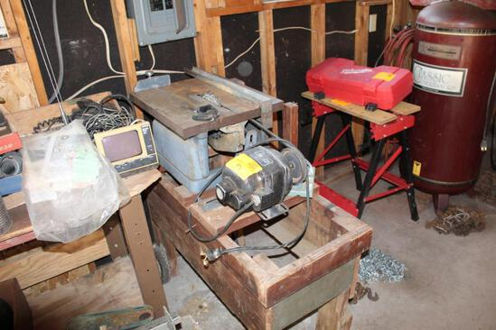 TABLETOP TABLE SAW WITH ELEC. MOTOR, MTD. ON STAND